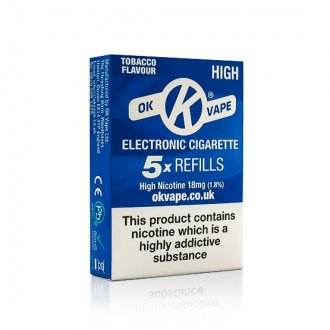 OK Cigalike E-Cig Refills - Tobacco Flavour - 18mg High - Pack Image