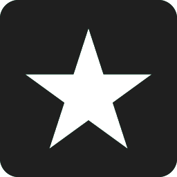 white star with black background