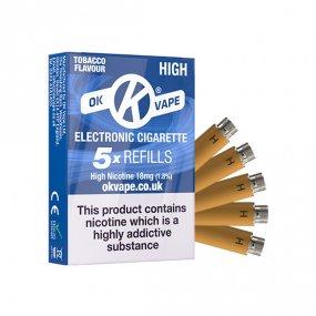 OK Cigalike E-Cig Refills - Tobacco Flavour - 18mg High - Pack Image