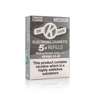 OK Cigalike E-Cig Refills - Tobacco Flavour - 12mg Medium - Pack Image