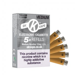 OK Cigalike E-Cig Refills - Tobacco Flavour - 12mg Medium - Pack Image