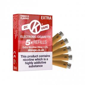 OK Cigalike E-Cig Refills - Tobacco Flavour - 20mg Extra High - Pack Image