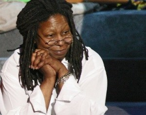Whoopi Goldberg, famous celebrity vaper of e-cigarettes