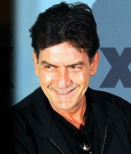 Charlie Sheen, famous celebrity vaper of e-cigarettes