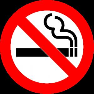 No smoking sign - smoking ban in cars