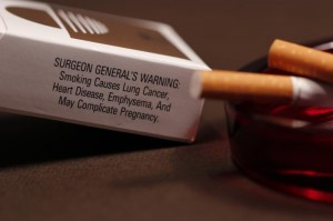 Surgeon General's Warning on cigarettes in America use e-cigs instead