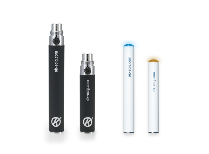Image of different e cigarette Batteries from OK E Cig