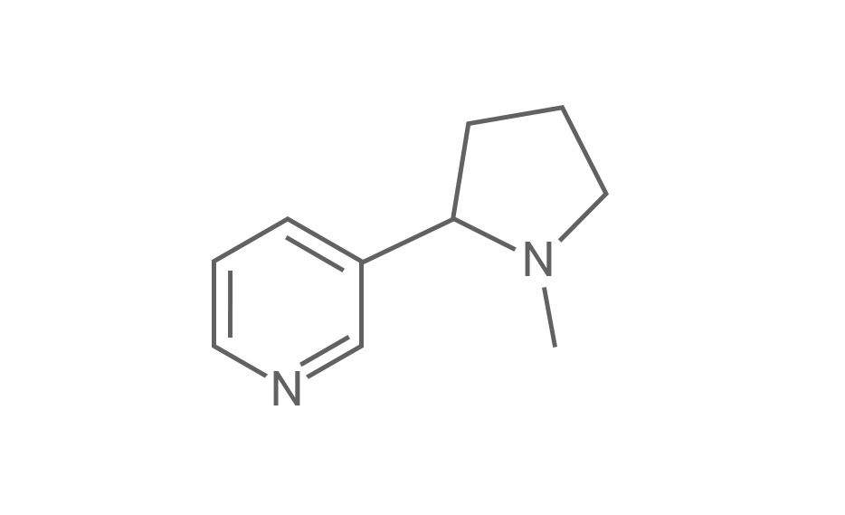 Molecular structure of nicotine - nicotine in e liquid ingredients