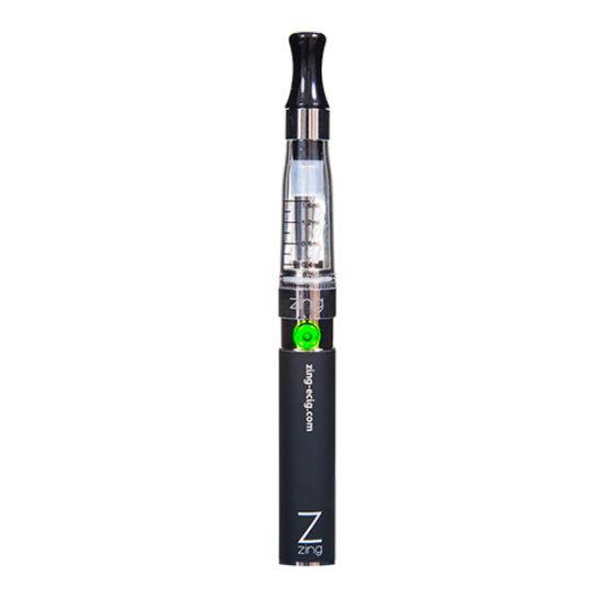 A portrait of the the Zing CE4 e-cigarette.