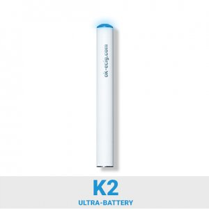 Image of K2 Ultra E Cigarette Battery (white with blue tip)