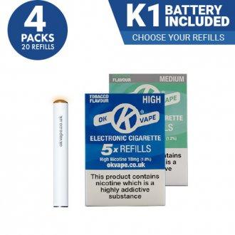 4x Cigalike E-Cig Refills Multipack