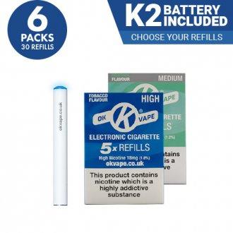 6x Cigalike E-Cig Refills Multipack