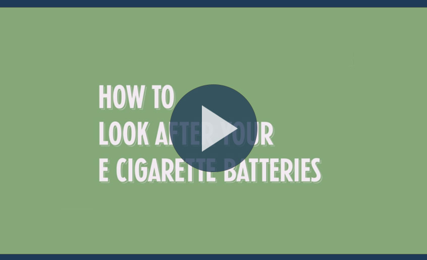 Video still for guide to looking after e cigarette batteries