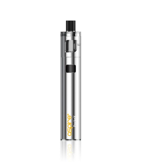 Aspire PockeX Sub ohm all-in-one vape kit in silver