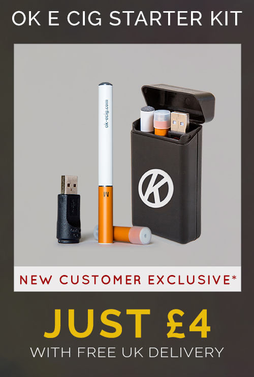 Black Friday Deal Cigalike E Cig Starter Kit just £4 with free uk delivery (new customers only)