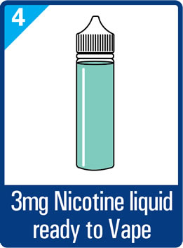 3mg nicotine e-liquid ready to vape