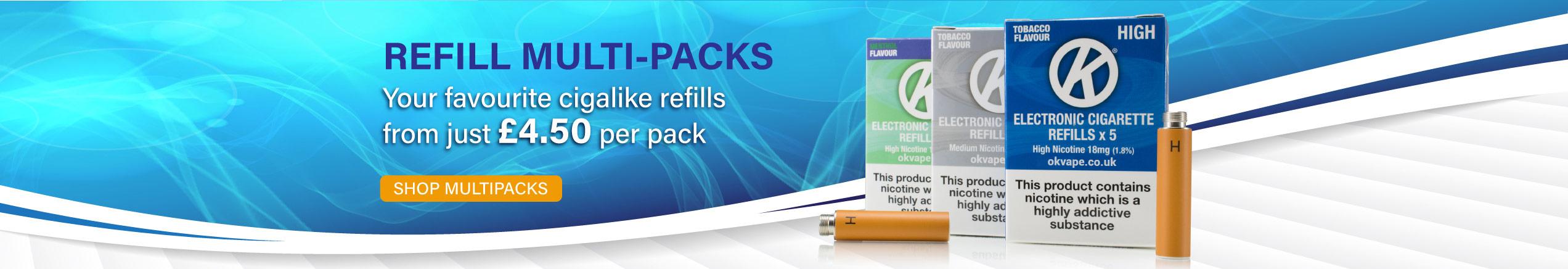 OK Vape Refill Multipacks Slider Image