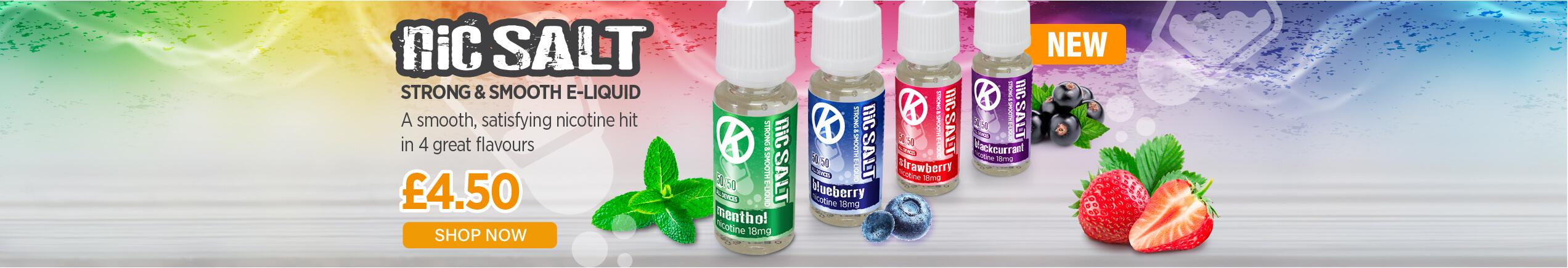 Ok NIcSalt E-Liquids Banner