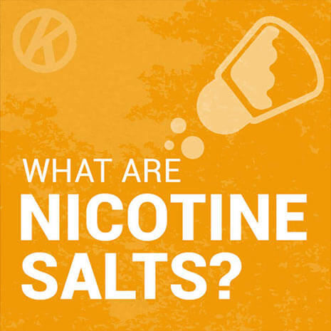 What are nicotine salts/NicSalts - Blog Header Image