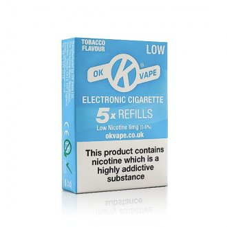 OK Cigalike E-Cig Refills - Tobacco Flavour - 6mg Low - Pack Image