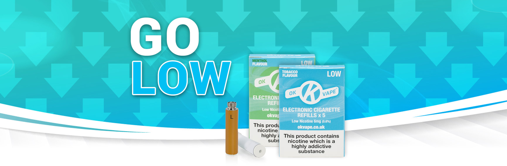 Low strength cigalike refills now available (6mg) blog header