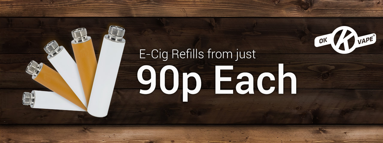 Refills from just 90p each - Blog banner with image of OK refills. 10Motives alternative