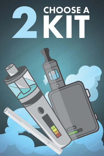 Beginners Guide to Vaping Step 2: Choose a Kit Graphic