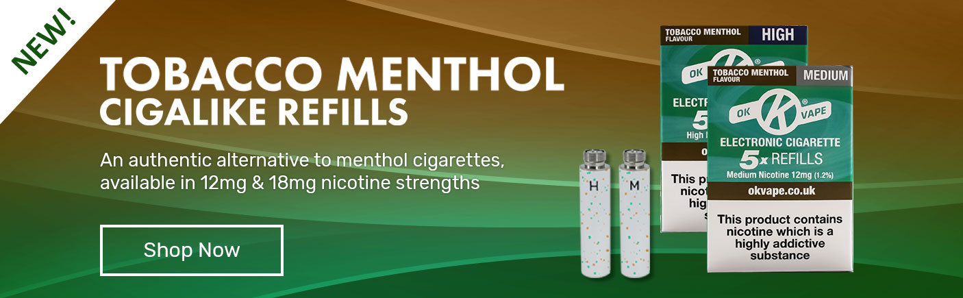 tobacco menthol Cigalike Refills - An authentic alternative to menthol cigarettes