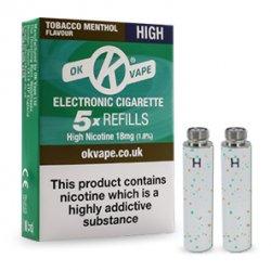 Tobacco Menthol Refills - High Strength