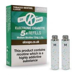 Tobacco Menthol Refills - Medium Strength