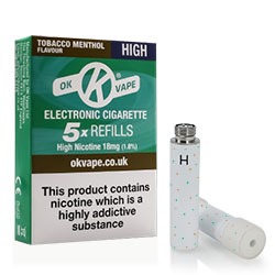 Tobacco Menthol Flavour Cigalike Refills