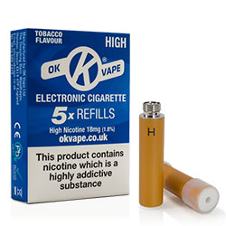 Tobacco Flavour Cigalike Refills