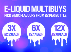 E Liquid multibuy menu graphic