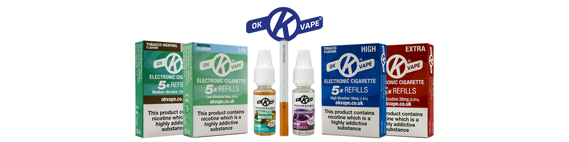 Selection of OK Vape products