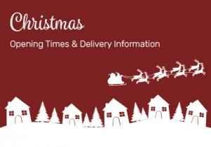 Christmas Opening Times & Delivery Information 2020