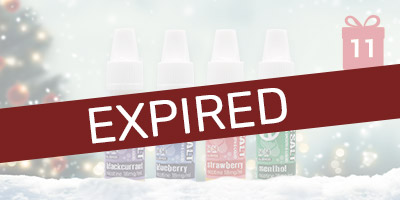 12 Nic Salt E-Liquids for just £6 - 12 Days of Christmas Header - Expired