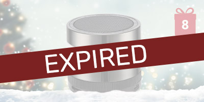 Free Bluetooth Speaker with 30 & 50x Multipacks - 12 Days of Christmas Header - Expired