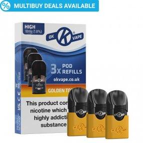 Golden Tobacco Pod Refills for the OK Pod Vape Kit