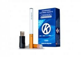 Image showing the contents of OK E Cig cigalike starter kit